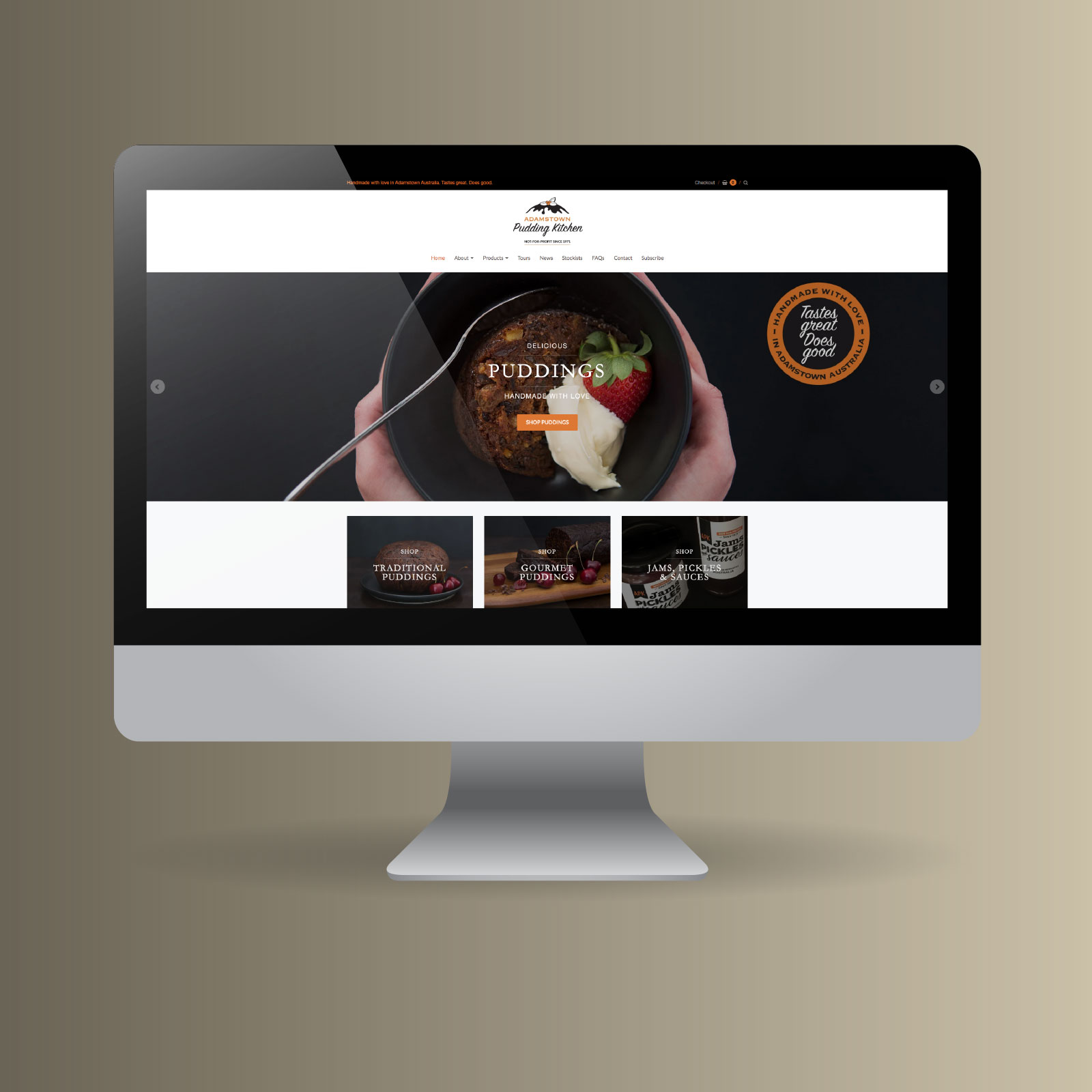 Adamstown Pudding Kitchen website by Just North