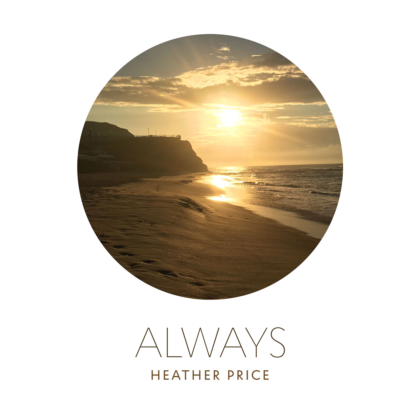'Always' music single cover – beach sunrise