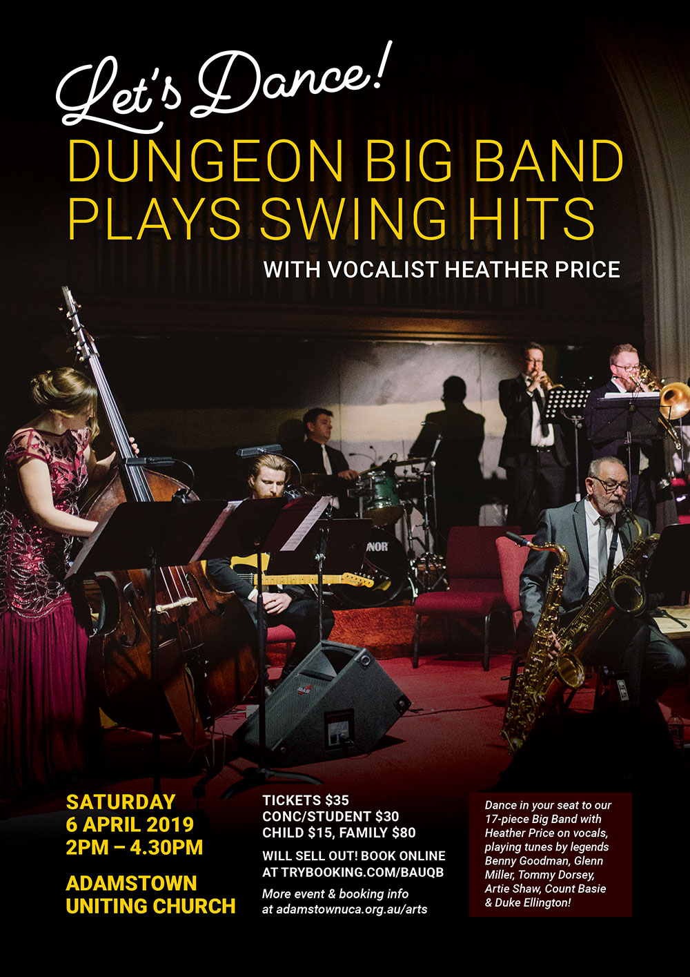 Dungeon Big Band event poster