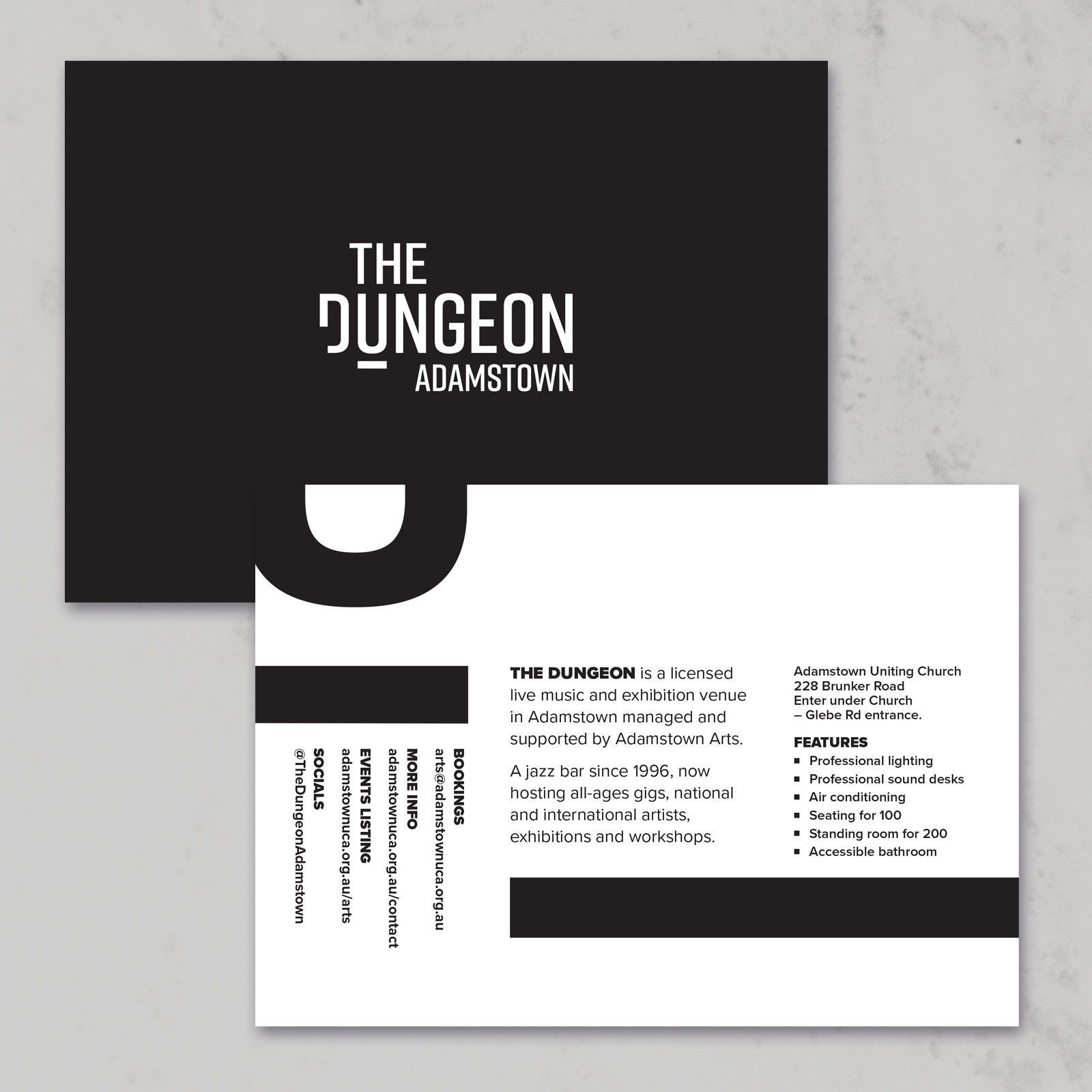Dungeon logo postcard